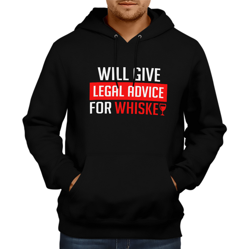 Legal Advice for Whiskey Hoodie [BLACK]