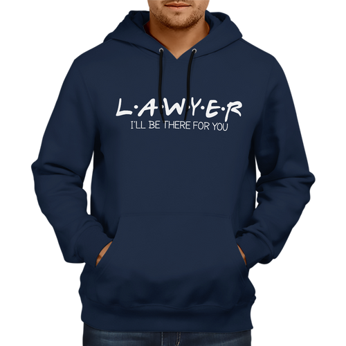 Lawyer- I'll be there for you Hoodie [NAVY BLUE]
