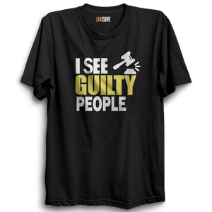 I See Guilty People T-shirt [BLACK]