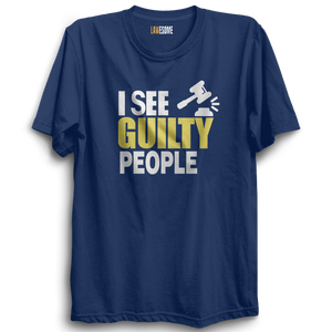 I See Guilty People Tshirt [NAVY BLUE]