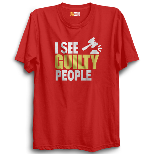 I See Guilty People Tshirt [RED]