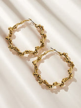 Load image into Gallery viewer, Golden Oversized Hoop 1 Pair Earrings