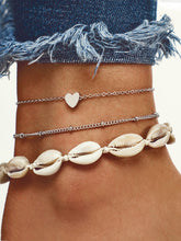 Load image into Gallery viewer, 3pcs White Seashell Design Anklet Set