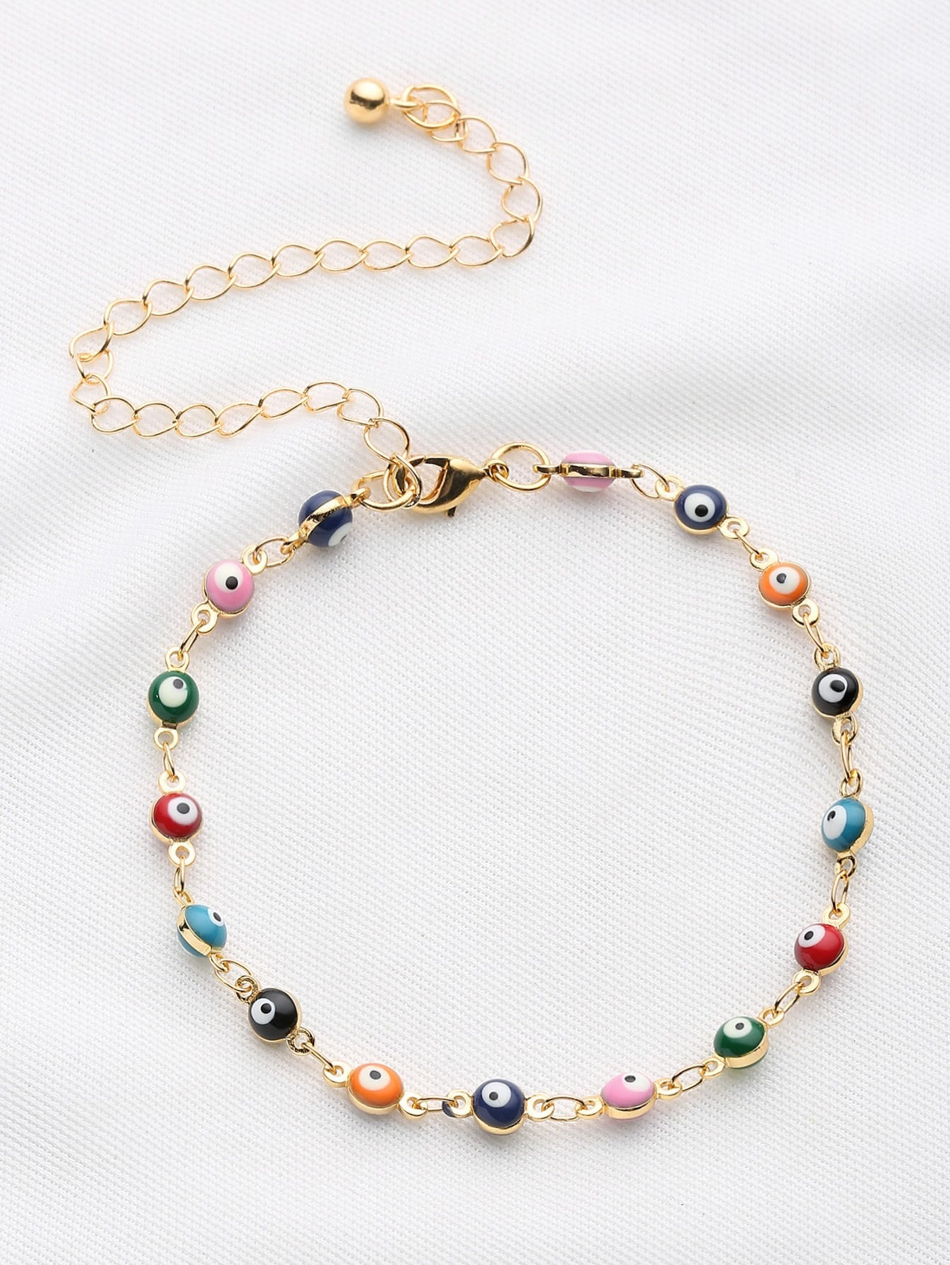 Multicolored Beaded Chain Bracelet