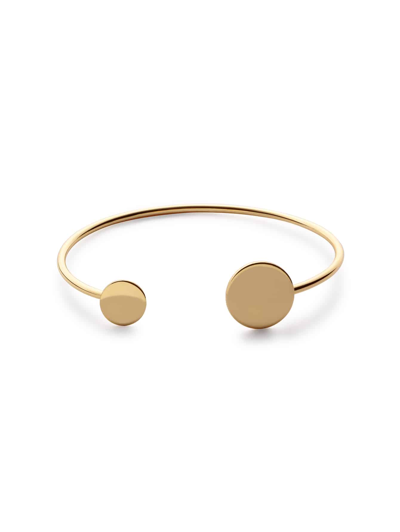 Coin Wrap Gold Plated Bangle
