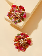Load image into Gallery viewer, Multicolor Flower Shaped 1pair Stud Earrings