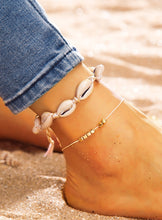 Load image into Gallery viewer, 2pcs Golden And White Shell Charm Anklet