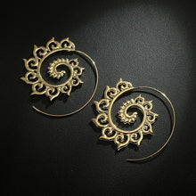 Load image into Gallery viewer, Sunny Golden And Silver Spiral Earrings