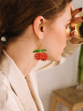 Load image into Gallery viewer, 1pair Multicolor Beaded Cherry Shaped Drop Dangle Earring