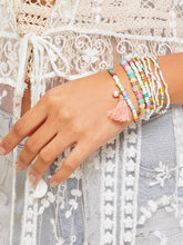Load image into Gallery viewer, Multicolor 9pcs Tassel Charm Metal  Beaded Bracelet