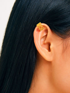 Golden Hollow 1pc Ear Clip