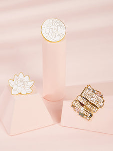 Multicolor Flower Shaped 3pcs Alloy Brooches