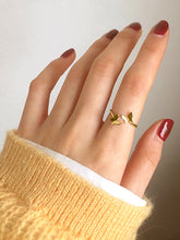Load image into Gallery viewer, 1pc Golden Butterfly Alloy Cuff Ring