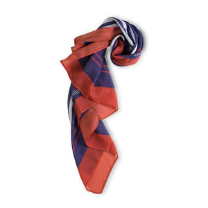 Nautical ClaudiaG Crepe Colorful Short Scarf