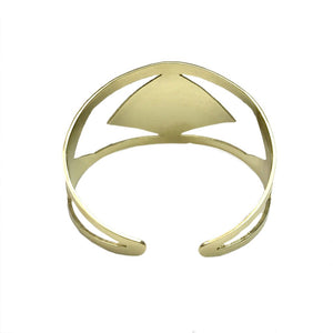 Brass Chevron Cambodia Adjustable Cuff