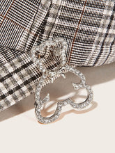Load image into Gallery viewer, Grey Rhinestone Open Bear Shaped 1pc Brooch