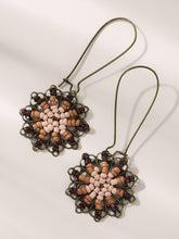 Load image into Gallery viewer, Multicolored Hollow Flower Seed Bead 1pair Drop Earrings