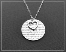 Load image into Gallery viewer, Heart With Words Of Love Sterling Silver Pendent Chain Necklace