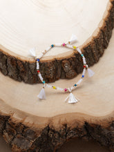 Load image into Gallery viewer, Multicolored Beaded Fringe Detail Elastic Bracelet