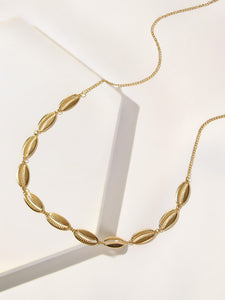 Golden 1pc Shell Decor Waist Chain