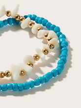 Load image into Gallery viewer, Multicolor 2 Piece Bead & Stone Decor Anklet For Women