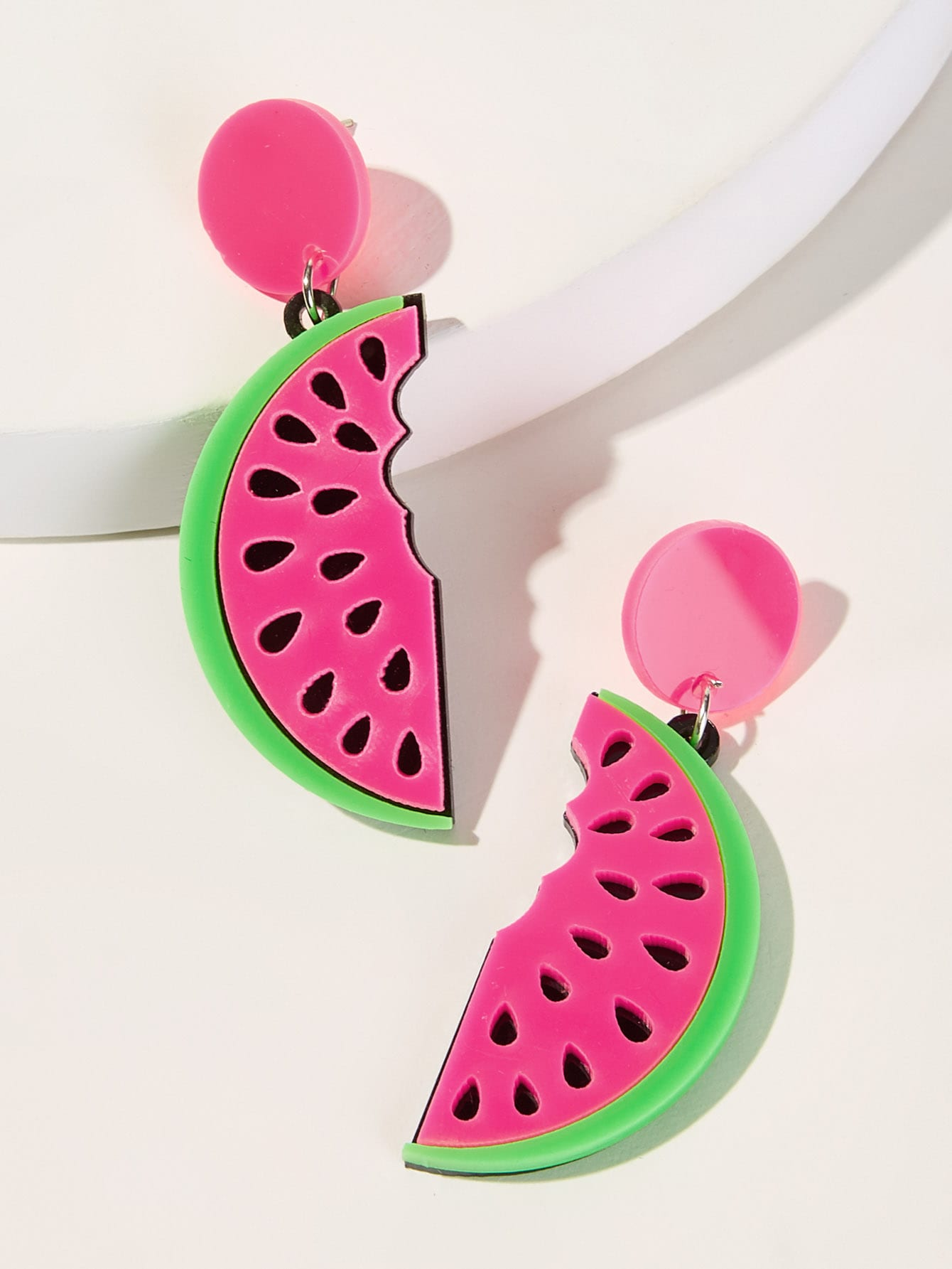 Multicolor Half Watermelon 1pair Drop Dangle Earrings