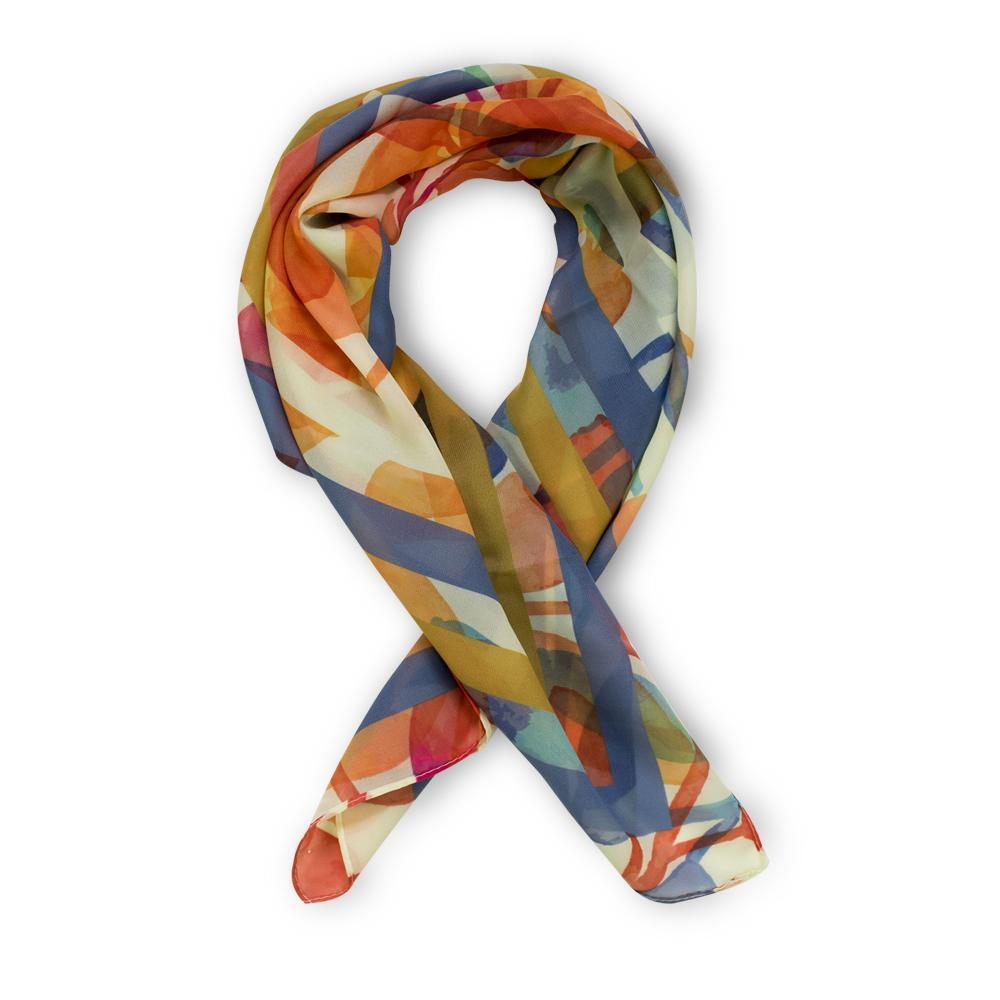 ClaudiaG Crepe Marilyn Colorful Scarf