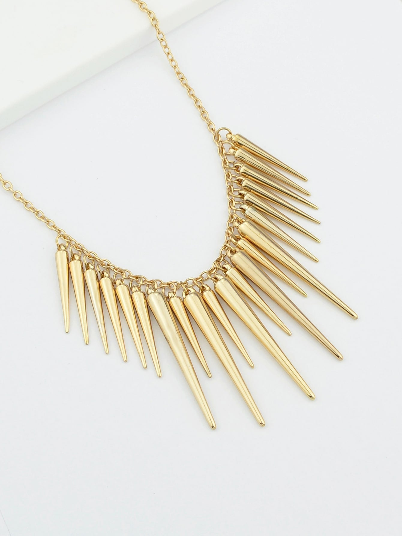Spike Pendant Gold Chain Necklaces