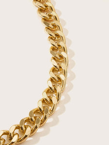 1pc Golden Thick Link Necklace