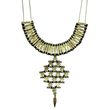 Load image into Gallery viewer, Golden Cotton Thread And Metal Nadu Temple Necklace