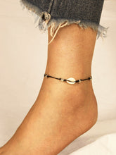 Load image into Gallery viewer, Black Shell & Bead Detail 1pc Anklet