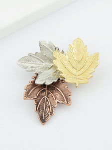 Multicolors Leaf Shape Brooch