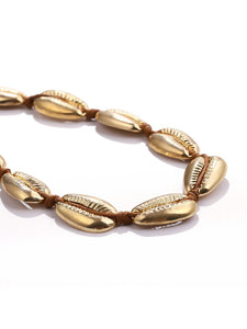 Golden Shell Metal Design Choker