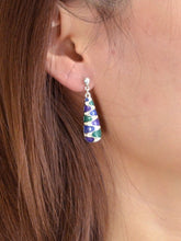 Load image into Gallery viewer, Colorful Enamel Silver Dangle Earrings From India