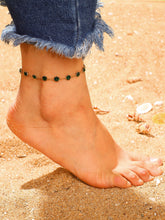 Load image into Gallery viewer, Green Gemstone Detail Golden Chain Anklet 1pc