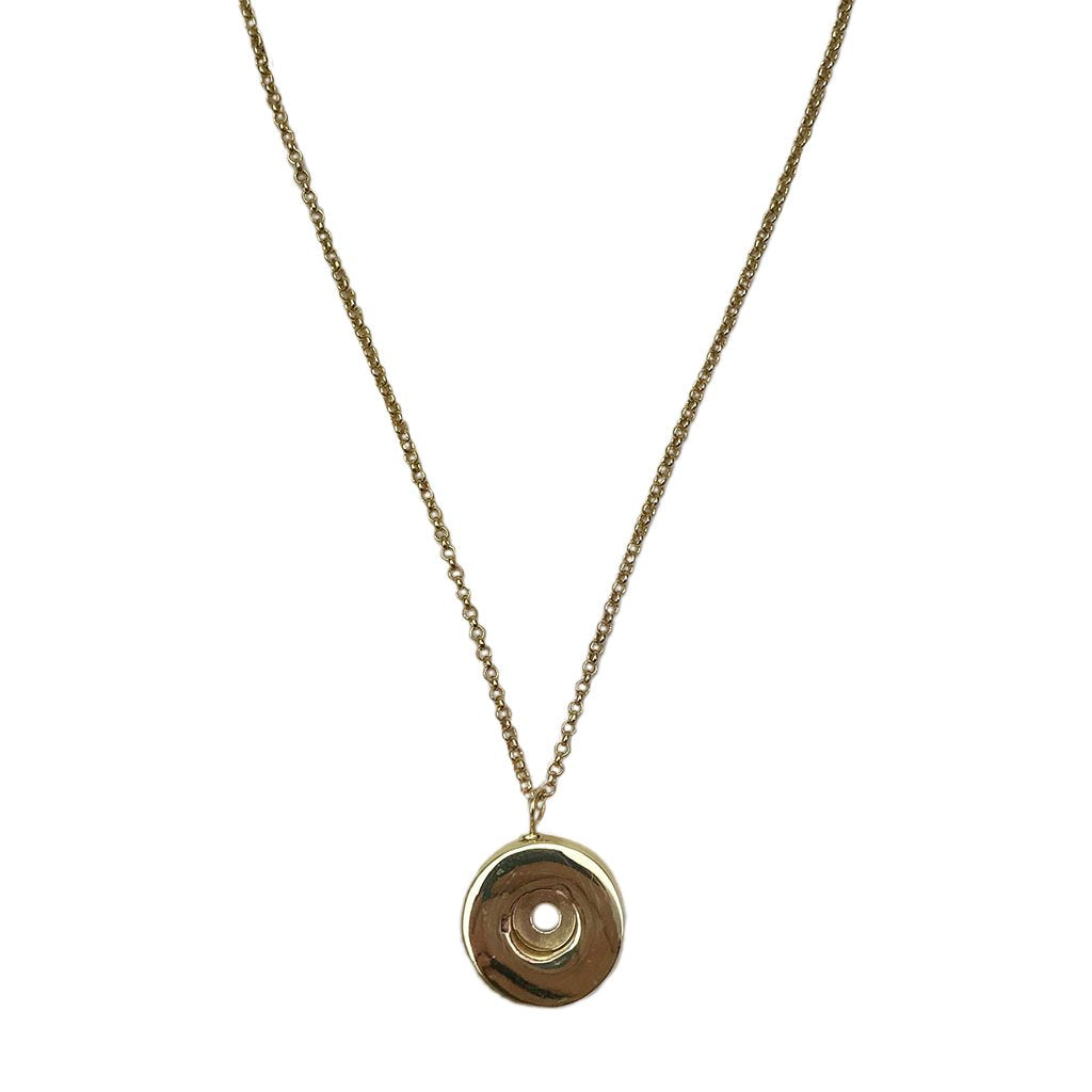 Golden Brass Shell Casing Pendant Chain Necklace