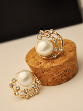 Load image into Gallery viewer, Goldn Faux Pearl 1pair Alloy Stud Earrings