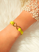 Load image into Gallery viewer, Golden Criss Cross With Yellow Band Detail Bracelet 1pc