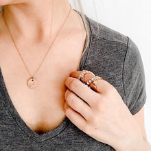 Load image into Gallery viewer, Initial Rose Gold Pendent Chain Necklace