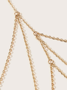 1pc Golden Layered Simple Thigh Chain