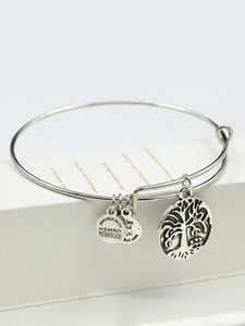1pc Grey Round Detail Adjustable Bangle