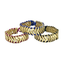 Load image into Gallery viewer, Multicolored Cotton Thread With Golden Metal Rina Temple Bracelet