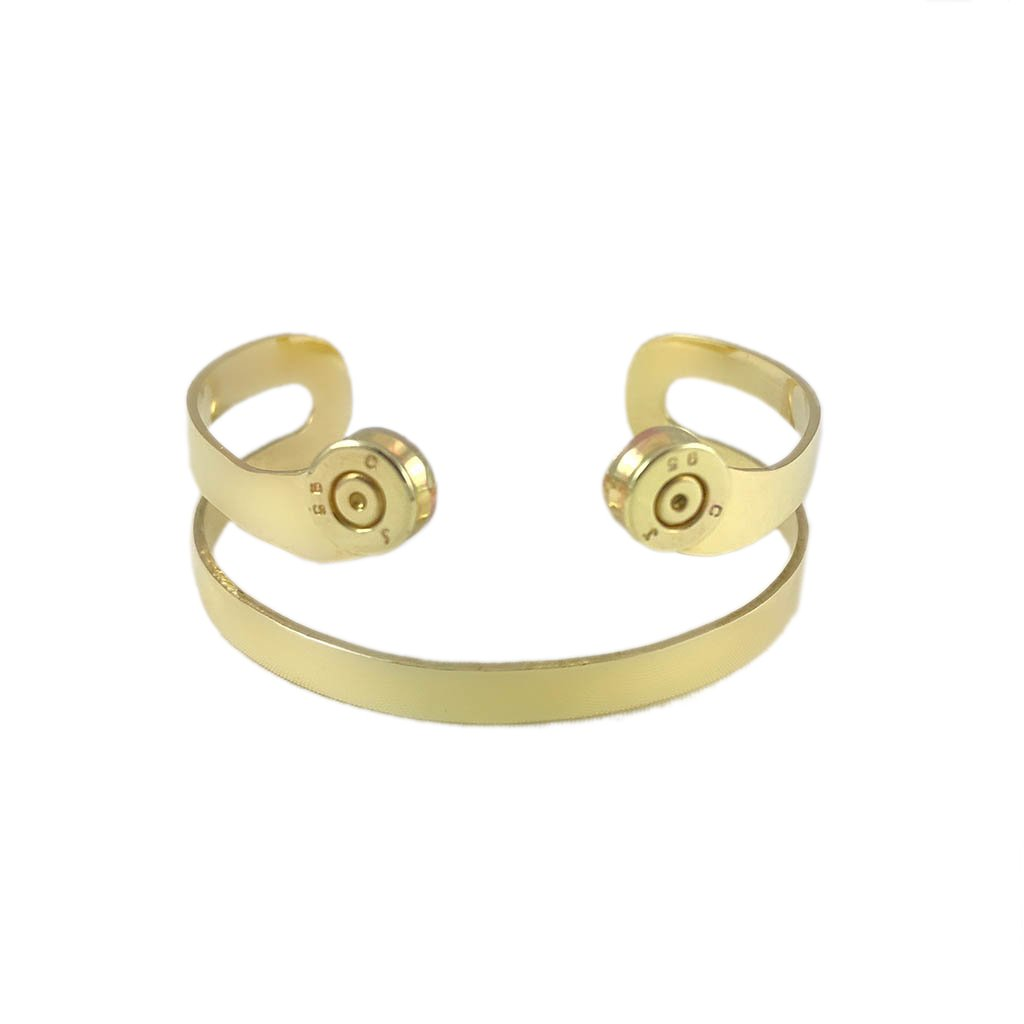Golden Brass Recycled Bullet Bomb Cuff