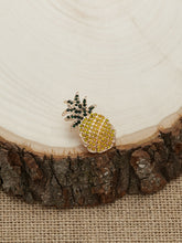 Load image into Gallery viewer, Pineapple Yellow And Green Rhinestone Crystal Stud Earrings