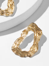Load image into Gallery viewer, Golden Hoop Abstracted Shaped Earrings - 1 Pair