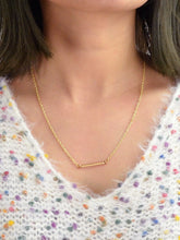 Load image into Gallery viewer, Golden Bar Pendent Gold Plated Lariats Necklace