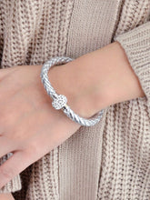 Load image into Gallery viewer, Weave Diamond Silver Bracelet