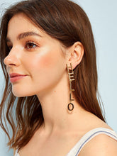 Load image into Gallery viewer, Golden Hello Letter 1 Pair Dangle Earrings