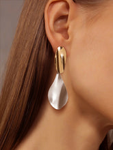 Load image into Gallery viewer, Grey Metal Drop 1 Pair Earrings
