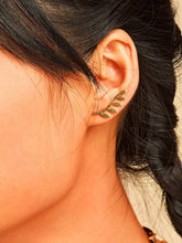 Load image into Gallery viewer, Golden 1pair Leaf Bar Decor Metallic Stud Earring